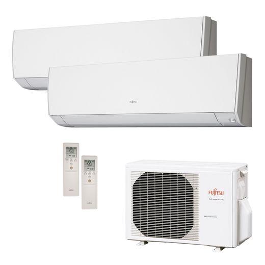 Ar Condicionado Multi Split Inverter Fujitsu 18.000 BTU/h (1x 12.000 e 1x 07.000) Quente/Frio 220v  | STR AR