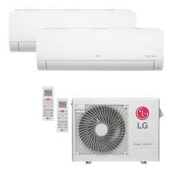 Ar Condicionado Multi-Split LG Inverter 24.000 BTU/h (1x 8.500 e 1x 11.900) Quente/Frio 220V | STRAR