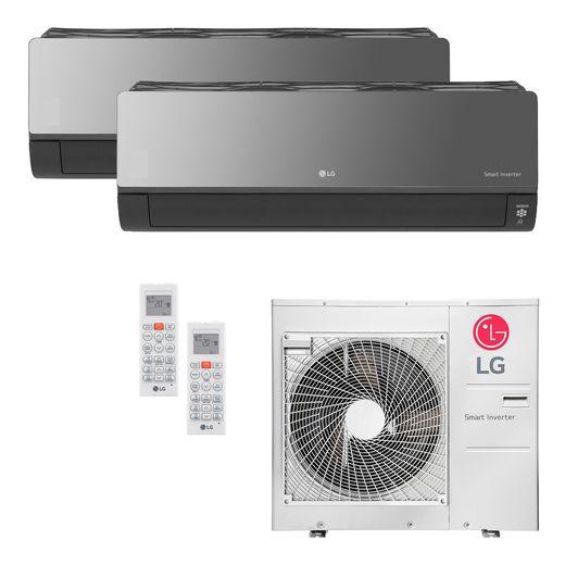 Ar Condicionado Multi-Split LG ArtCool Inverter 30.000 BTU/h (1x 7.200 e 1x 22.500) Quente/Frio 220V | STR