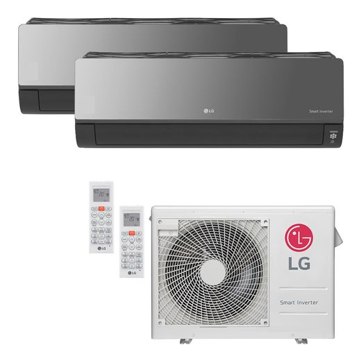 Ar Condicionado Multi-Split LG ArtCool Inverter 24.000 BTU/h (1x 8.500 e 1x 17.100) Quente/Frio 220V   STR