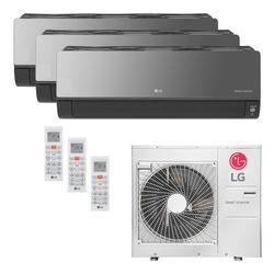 Ar Condicionado Multi-Split LG ArtCool Inverter 30.000 BTU/h (1x 8.500 e 2x 11.900) Quente/Frio 220V | STR