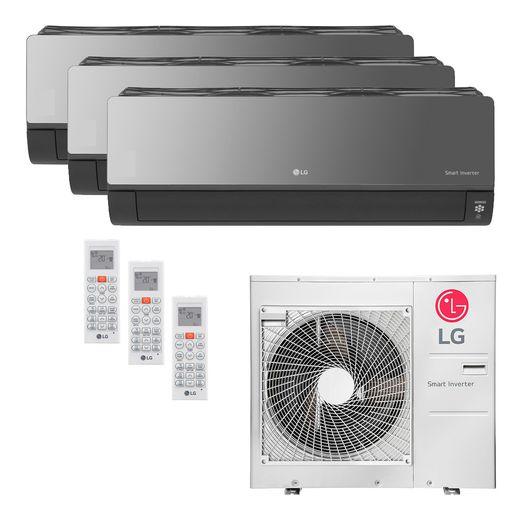 Ar Condicionado Multi-Split LG ArtCool Inverter 30.000 BTU/h (1x 8.500 e 2x 11.900) Quente/Frio 220V   STR