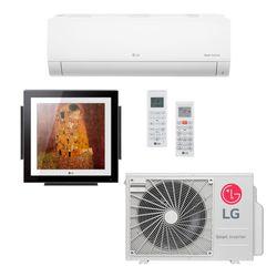 Ar Condicionado Multi-Split LG ArtCool Gallery Inverter 18.000 BTU/h (1x Evap 9.000 BTU/h + 1x Evap Gallery 12.000 BTU/h) Quente/Frio 220V  | STR AR