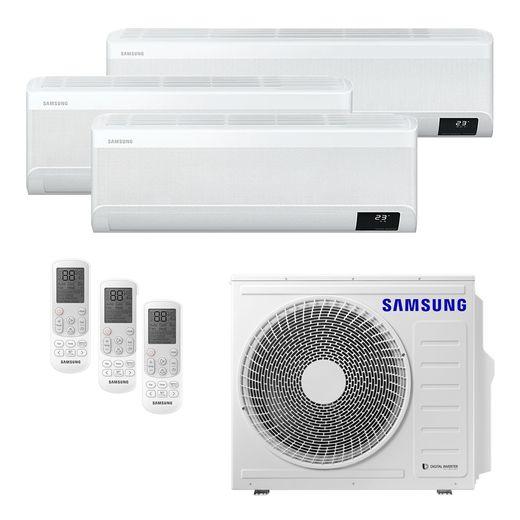 Ar Condicionado Multi-Split Samsung Wind Free Plus Inverter 24.000 BTU/h (1x 9.000 e 1x 12.000 e 1x 18.000) Quente/Frio 220v | STR AR