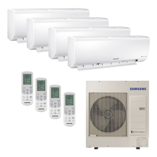 Ar Condicionado Hi-Wall Mini VRF Samsung Inverter 47.800 BTU/h (3x 9.500 e 1x 24.000) Quente/Frio 220v   STR AR