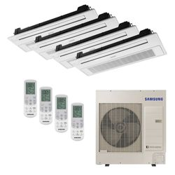 Ar Condicionado Cassete 1 Via VRF Inverter Samsung 47.800 BTU/h (1x 9.500 2x 12.000 1x 18.000) Quente/Frio 220V | STR AR