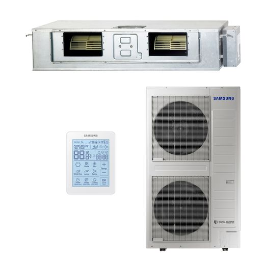 Ar Condicionado Duto VRF Inverter Samsung 76.400 BTU/h 8,0 HP Frio 220v Trifásico | Controle Remoto c/ Fio | STR AR