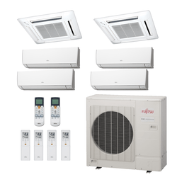Ar Condicionado Multi-Split Fujitsu 48.000 BTU/h (4x 9.000 e 2x Cassete 12.000) Quente/Frio 220V   STR