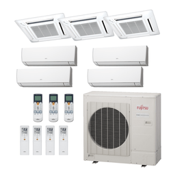 Ar Condicionado Multi-Split Fujitsu 48.000 BTU/h (4x 7.000 e 3x Cassete 9.000) Quente/Frio 220V    STR